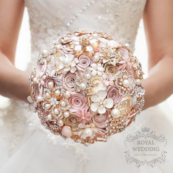 Hochzeit Bouquet Brosche Bouquet Brautstrauß von RoyalWeddingDecore