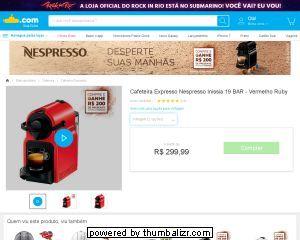 (SUBMARINO) Cafeteira Nespresso Inissia R$ 299,00 + R$ 200,00 de presente pra cápsulas