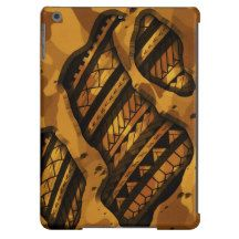 Tribal military camouflage tattoo design iPad air cover
