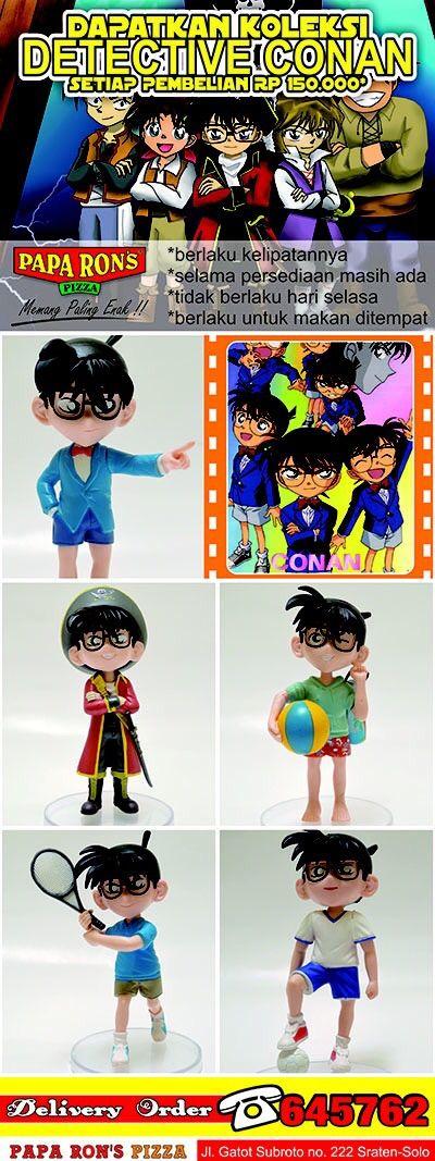 Promo Action Figure paparonsolo 2014. Dapatkan mainan menarik Detective Conan dengan pembelian 150.000