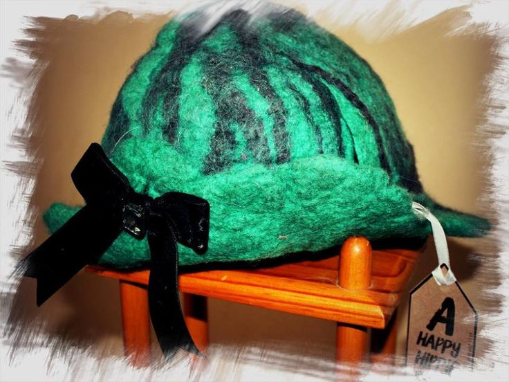 Funky Fairy Range - 'Hope's Hat' - FeltArt hand felted hat. Designed and created by a Happy Hippie.