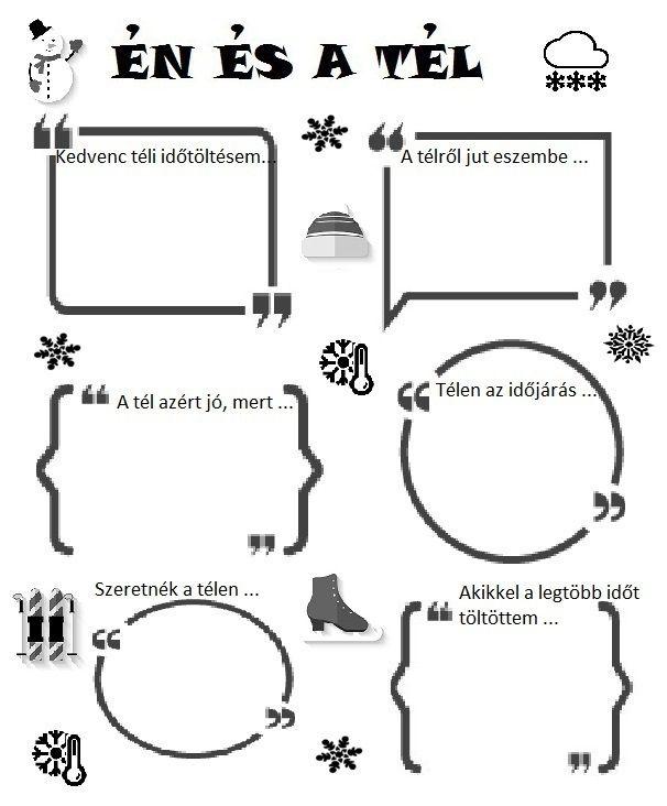 Játékos tanulás és kreativitás: Én és a tél ...