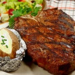 Rock's T-Bone Steak Rub - I used this recipe tonight minus the cayenne because of my kids, and minus the turmeric because I couldn't find it in my spice rack, but it was delicious!  My guests all raved over the steaks!