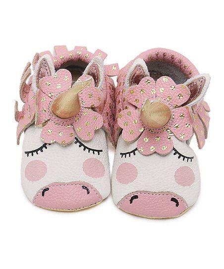 CJ Baby Pink \u0026 Gold Dot Unicorn Leather