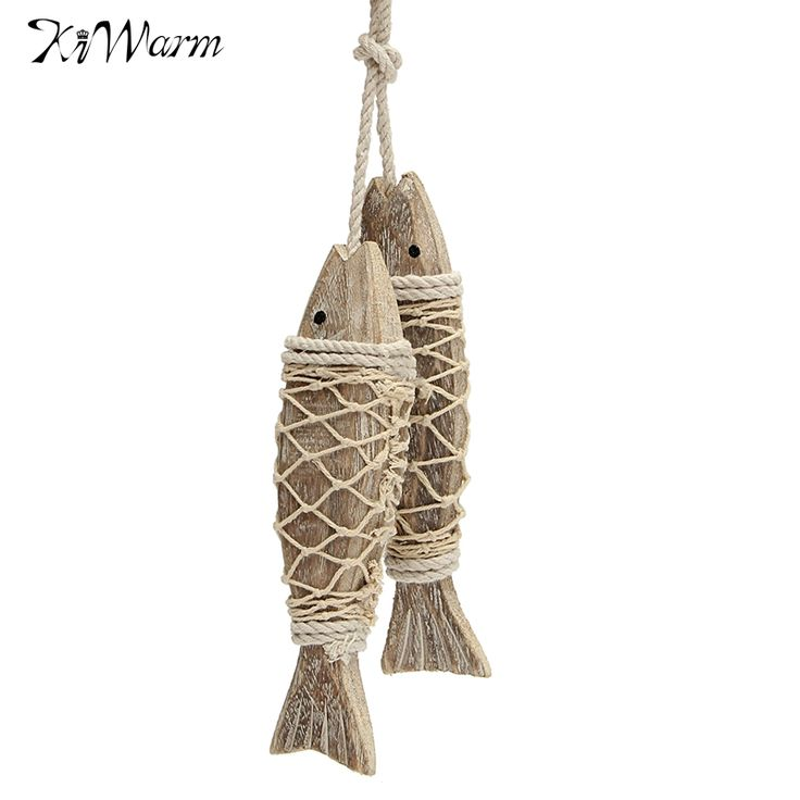 Cheap sculpture wall, Buy Quality sculpture carved directly from China sculpture decorative Suppliers: KiWarm 2Pcs Mediterranean Style Rustic Coastal Hand Carved Hanging Wood Fish Ornaments Wall Sculptures For Home Decor Handicraft