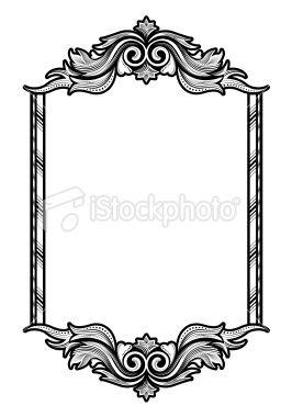 Victorian Frame Royalty Free Stock Vector Art Illustration