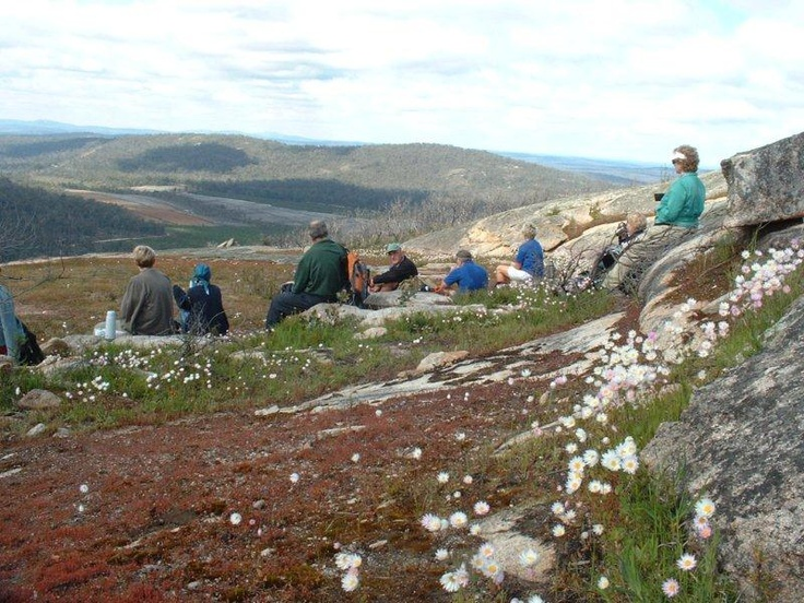Group rest on Mt. Cooke