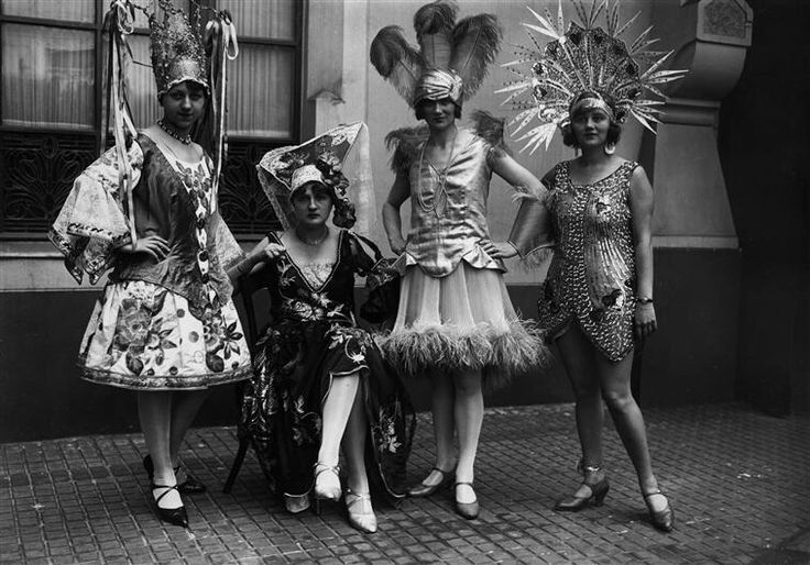 Pretty masqueraders at the  Schlaraffia, Berlin, 1928 by Carl Weinrother