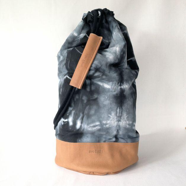 Seesäcke - Leder Seesack SEASIDE BAG Batik / Braun - ein Designerstück von eveandadis bei DaWanda