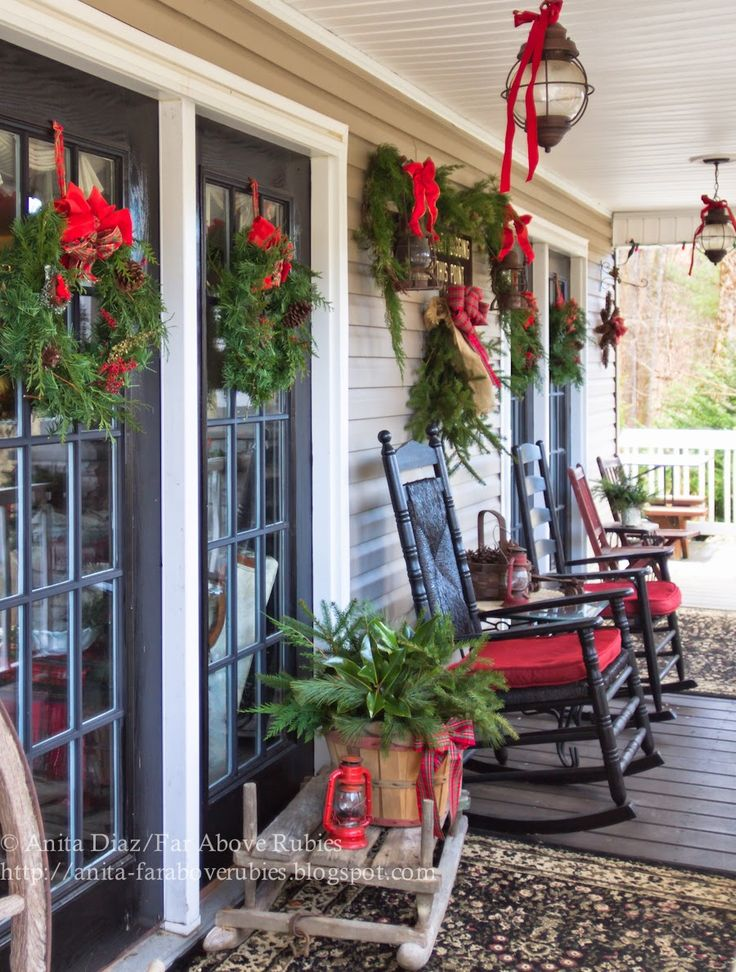 Country Christmas Decorations For Front Porch : Best ideas about country christmas on