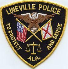 LINEVILLE ALABAMA POLICE PATCH