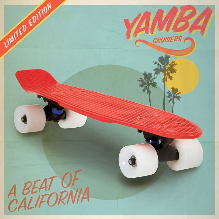 Skateboard - SKATE CRUISER YAMBA ROUGE