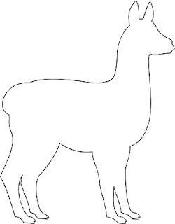 llama pattern to cut out.   Van Laar Designs: Tutorial