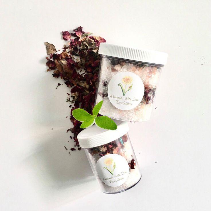 MINT ROSE Bath Salts | Bath Salts | Epsom Soak | Organic Spa Soak | Rose Bath Salts | Mint Bath Salts | Pink Himalayan Bath Salts by Handmadewithlovebykm on Etsy https://www.etsy.com/listing/506654855/mint-rose-bath-salts-bath-salts-epsom