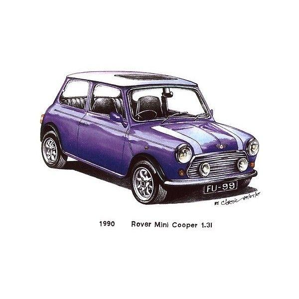 Violet 1990 Rover Mini Cooper Car $3 | Sketches - Indoor / Outdoor