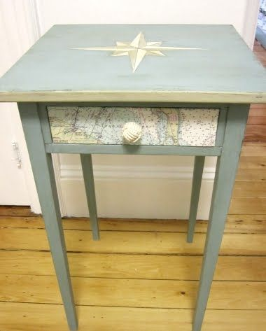 table makeover - what is this decoupage I keep reading about.: