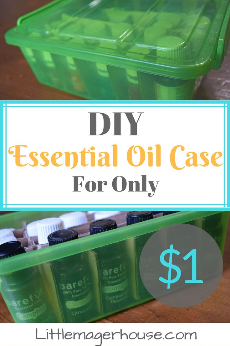 Learn how to make a DIY essential oil case for only one dollar! Most cases cost at least ten bucks! Simple and easy tutorial!