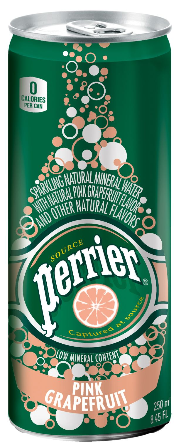 Perrier Slim Can in Pink Grapefruit I Delicious, no calories, all natural flavor
