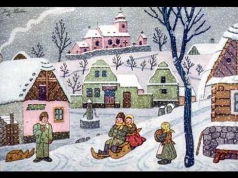 Josef Lada zima v obraze...Josef Lada Winter in the image ... (48 pieces)