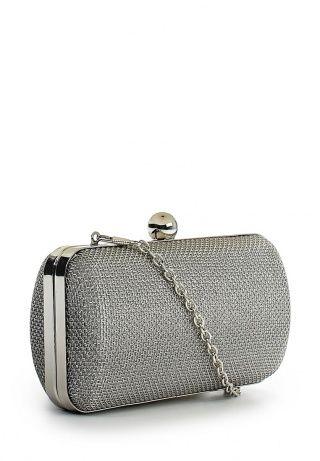 Клатч Parfois, цвет: серебряный. Артикул: PA004BWFFV30