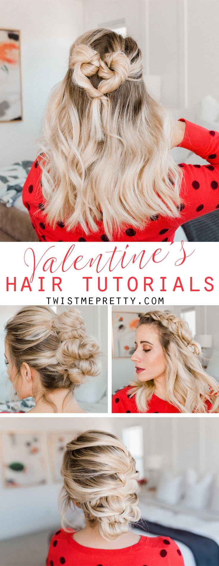4 EASY Valentine's Hair Tutorials