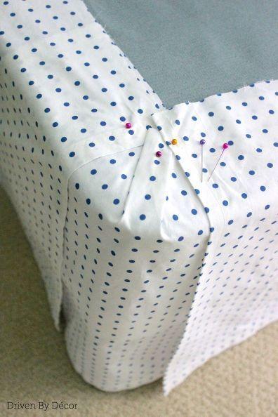 diy bedskirt flat sheet custom repurpose, bedroom ideas, diy, home decor, reupholster