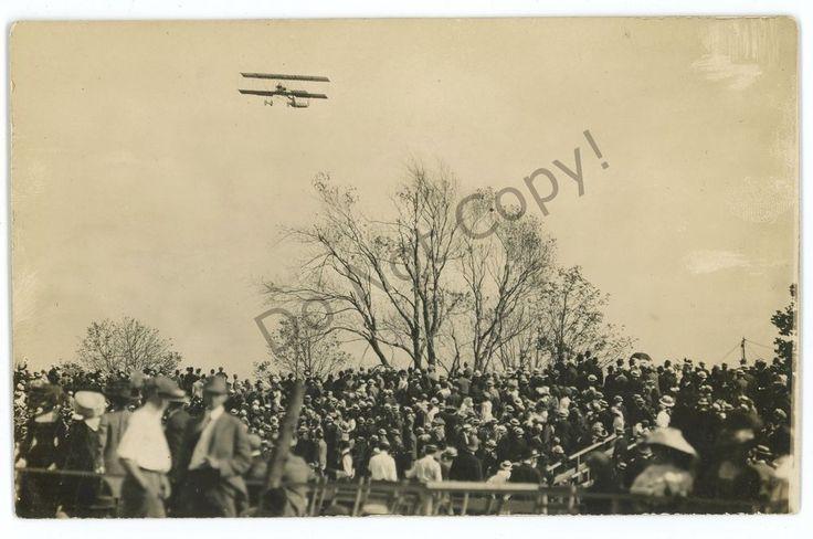 RPPC Early Aviation Meet, Wright Flyer? Harvard Field MA? Real Photo Postcard