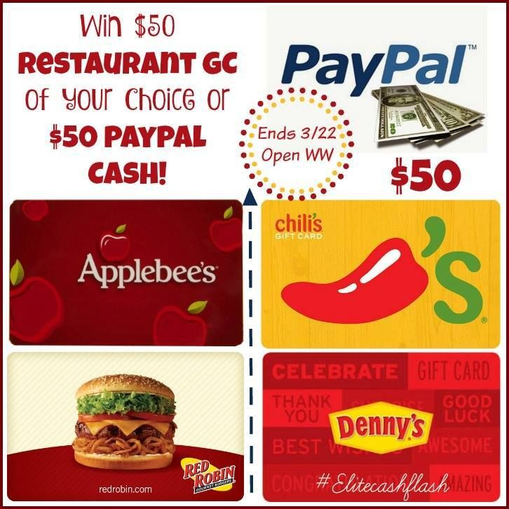 $50 Restaurant Gift Card of Choice Giveaway | Giveaway Graveyard | Pinterest | Giveaway, Gift card giveaway and Restaurant gift cards