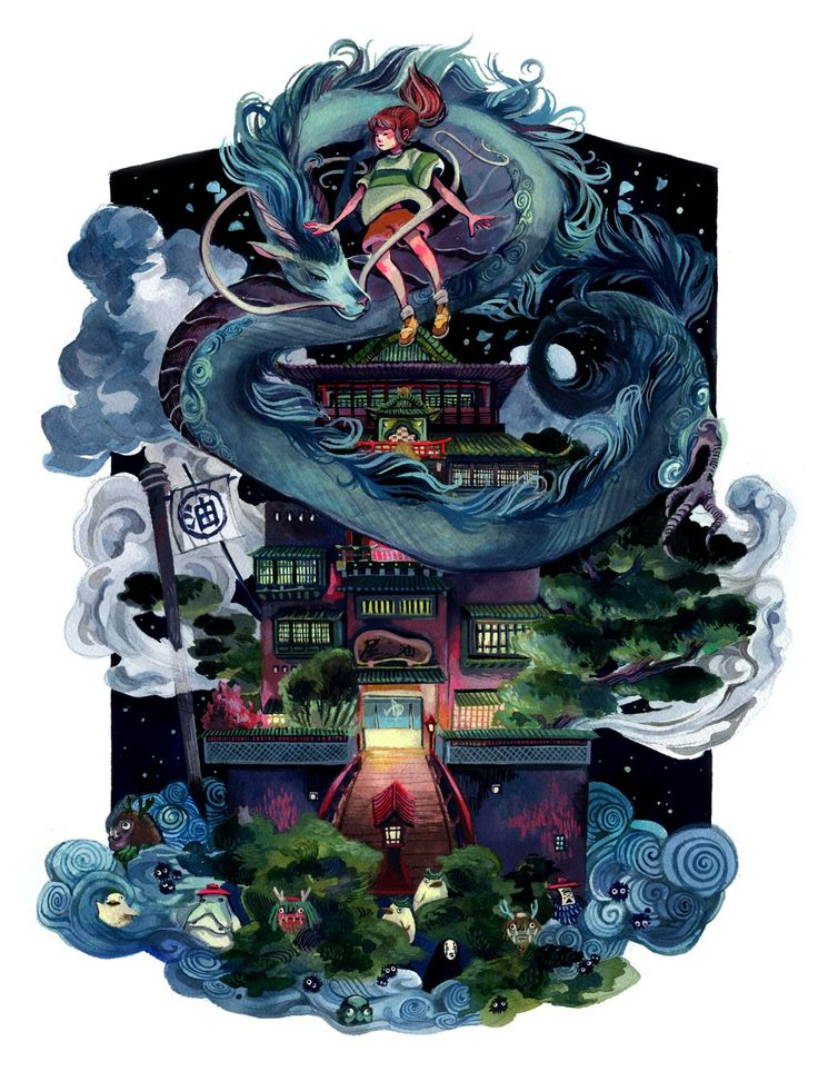 Hayao Miyazaki art show features stunning illustrations of Studio Ghibli…                                                                                                                                                                                 Más