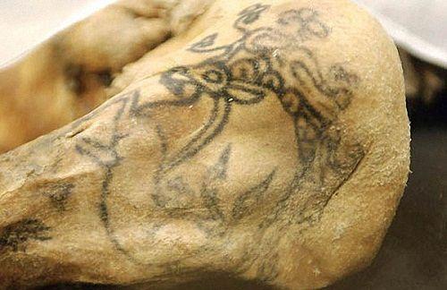 Scythian Deer or Griffin. Pazyryk Ladies - 2500 year-old tattoos.