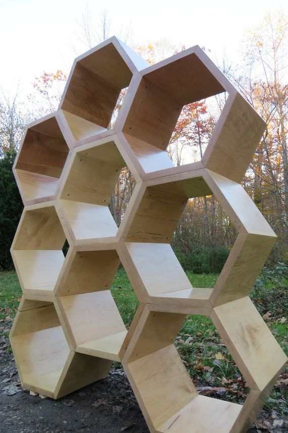 MAPLE HONEYCOMB  Set of 9 Hexagons in Maple by EONeyeofnature