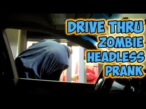 man bags Drive Thru Zombie Headless Prank  Anything Goes Humor
