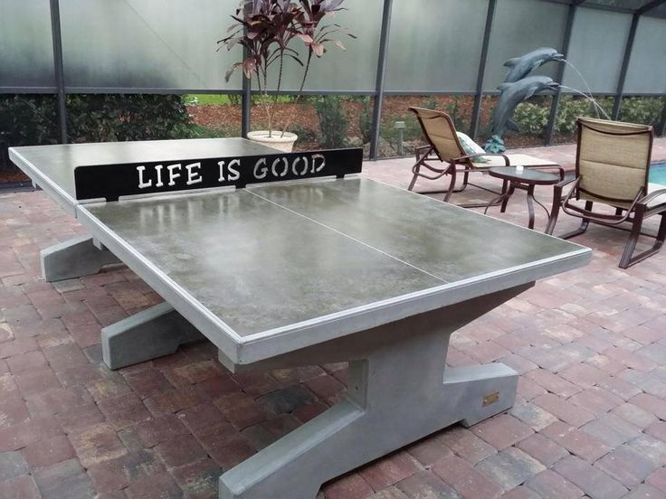 Stone Age Concrete Ping Pong Tables Starting at $3375.00