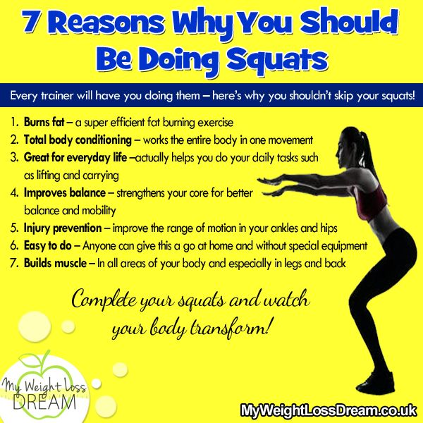 7 Reasons why you should be doing the squat exercise. # ...