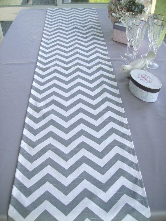 CHEVRON Table Runner Wedding Table Topper by simplydivinebyjoann, $18.00
