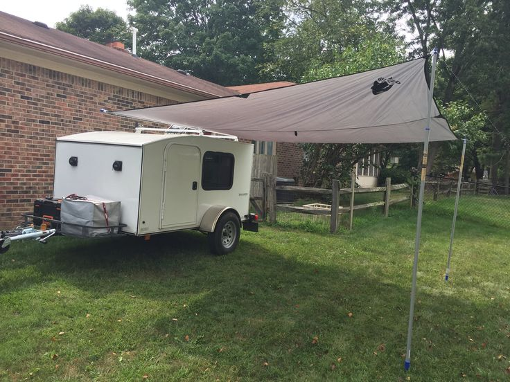 DIY Camper Awning No Drilling Super Simple 3 Extendable Paintings Poles 4 Small
