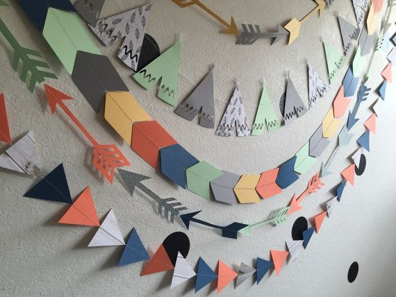 Pow wow chevron southwestern boho garland will by StripestoSparkle