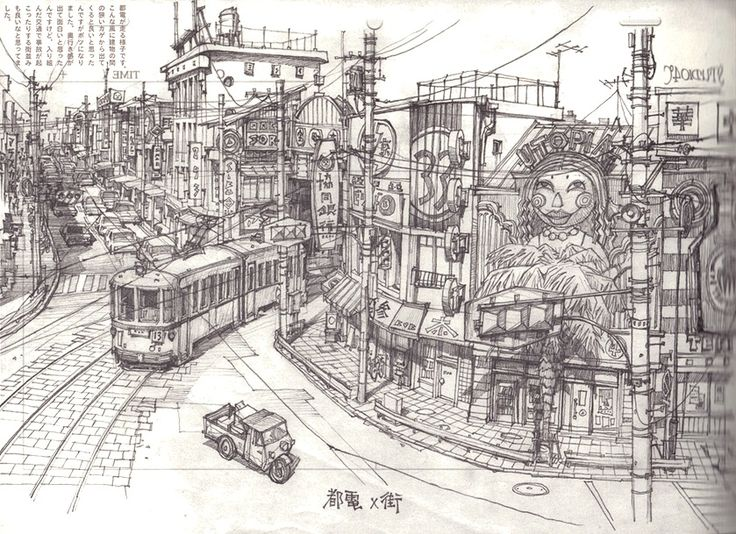 ekkon Kinkreet (鉄コン筋クリート) Background Art by Shinji Kimura