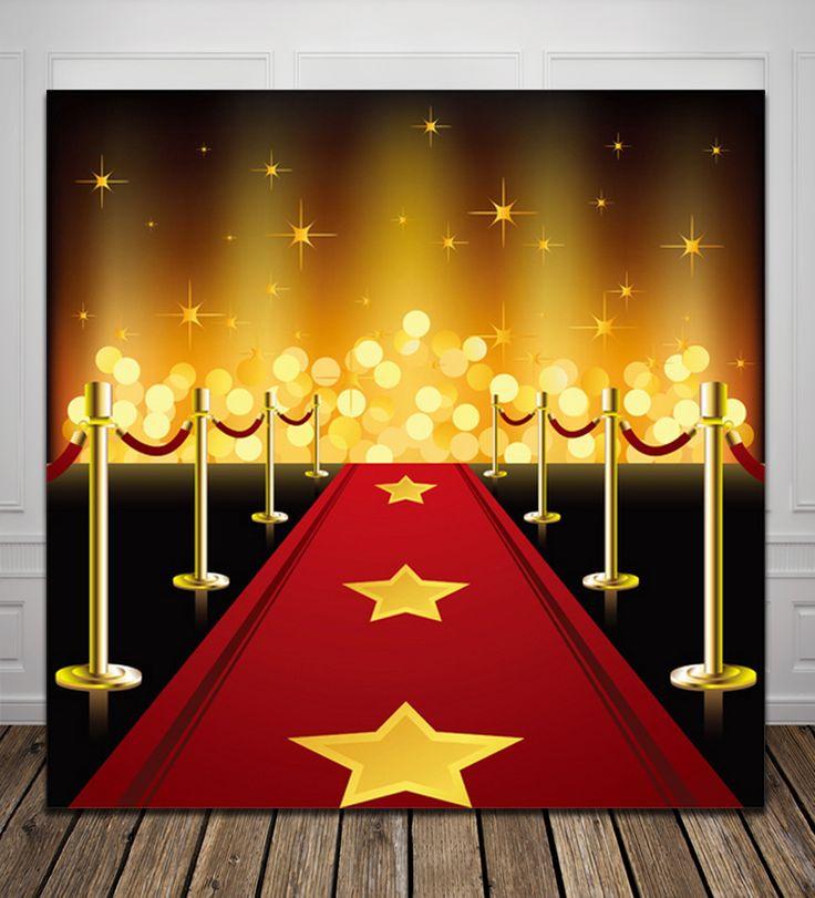 HUAYI красный ковер день рождения Компьютер Напечатаны Фотографии Фон D1721