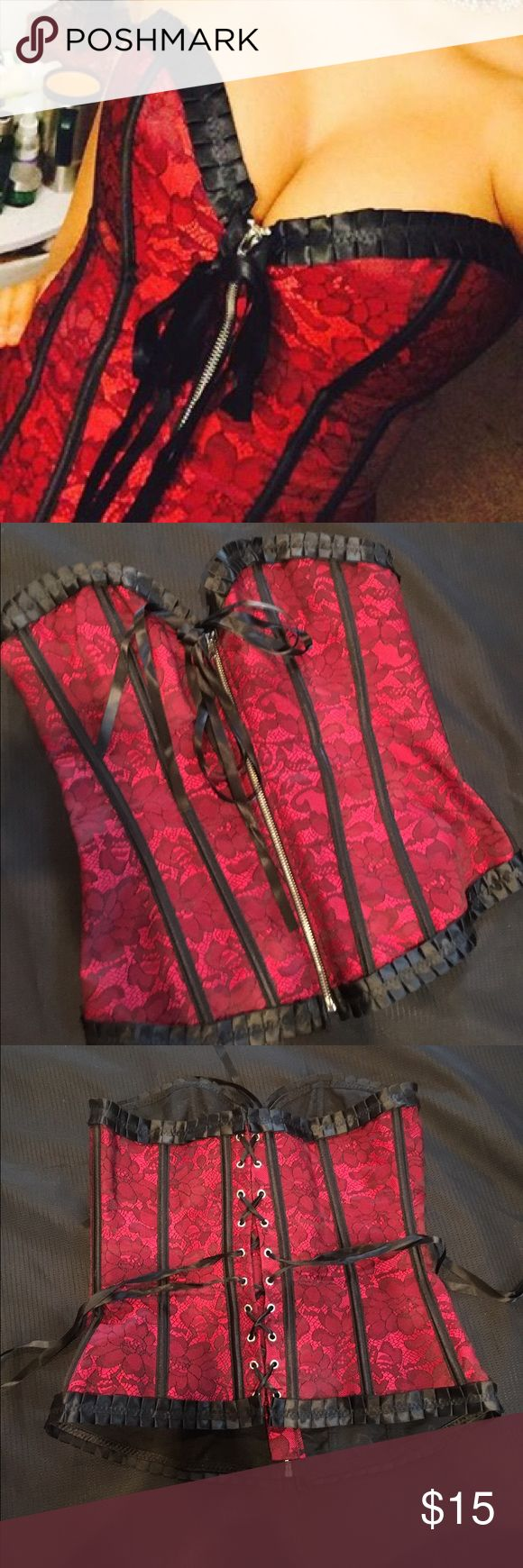 Lingerie Bustier Corset / Waist Trainer Lingerie Bustier. Worn once for Halloween! Can be used as a waist trainer. Intimates & Sleepwear