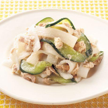 大根ときゅうりのツナサラダ | 伊藤晶子さんの小鉢の料理レシピ | プロの簡単料理レシピはレタスクラブニュース