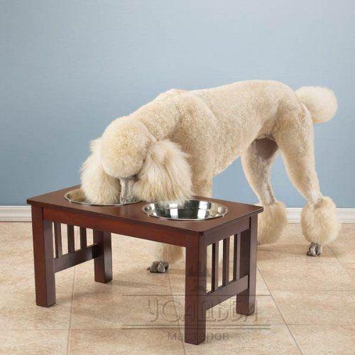 Вы узнаете нужна ли подставка для собачьей миски, какие миски для собак лучше, преимущества деревянных подставок и как выбрать место для кормления собаки