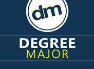 This pin represents degreemajor logo. Life experience degree.
