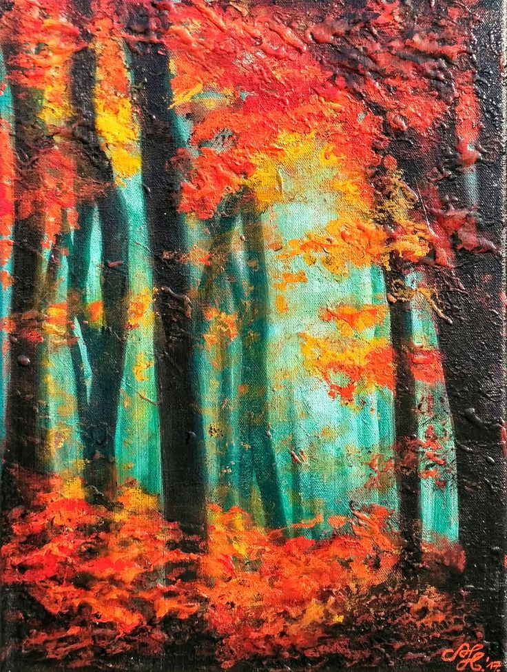 Forest, 2017, 30x40cm, Acrylic on canvas