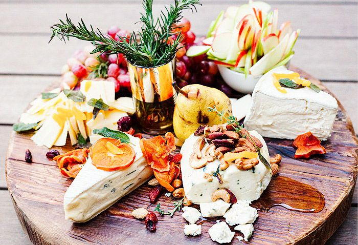 A delicious cheese plate