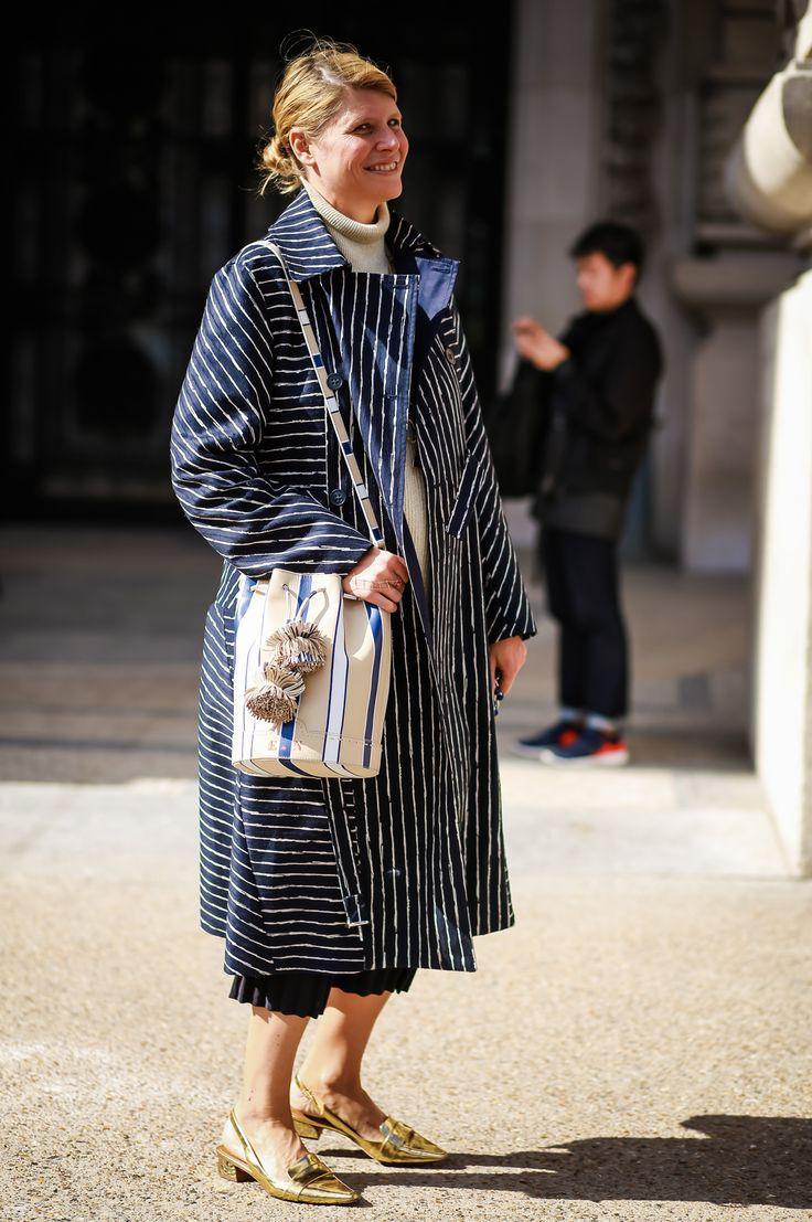 Stylist Elisa Nalin outside the Grand Palais
