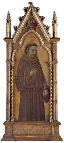 Saint Francis of Assisi Possibly Florence, the early 14th century Tempera on…