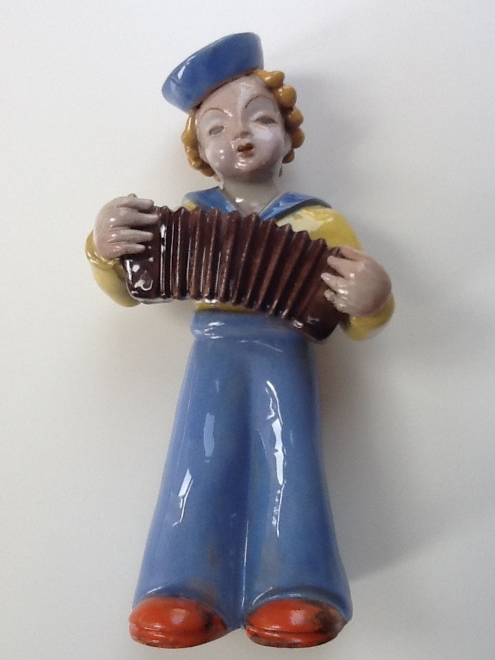 Sailor girl wit accordion