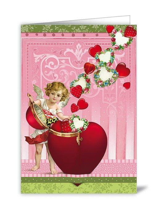 NBGB14 - Wenskaart - Heart Angel   Valentijn   kaartfanaat
