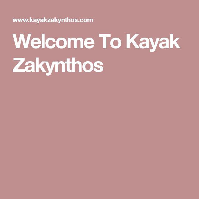 Welcome To Kayak Zakynthos